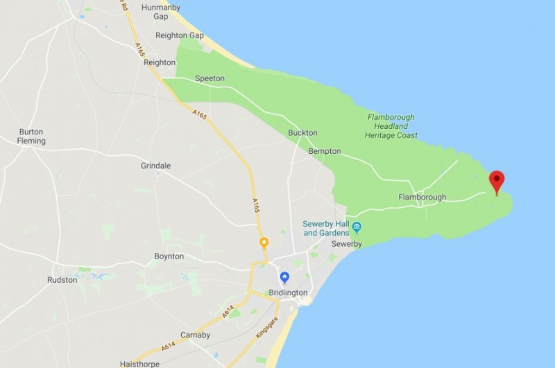 Flamborough Headlands Restaurant Location Map