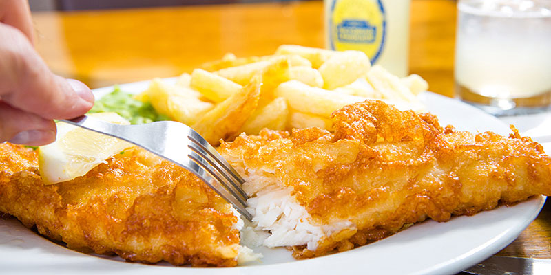 Fish and Chips at Headlands Restaurant
