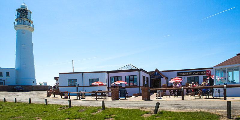 Lighthouse next to Headlands Restaurant